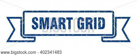 Smart Grid Ribbon. Smart Grid Grunge Band Sign. Smart Grid Banner