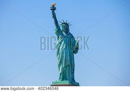 The Statue of Liberty National Monument on the Liberty island, Manhattan, New York, USA.