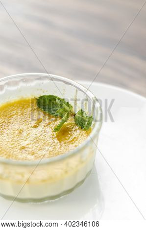 Vegan Dairy Free Organic Coconut Cream Creme Brulee Dessert