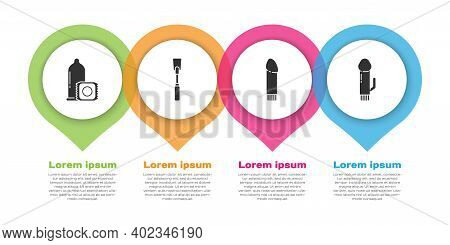 Set Condom, Leather Whip, Dildo Vibrator And Dildo Vibrator. Business Infographic Template. Vector
