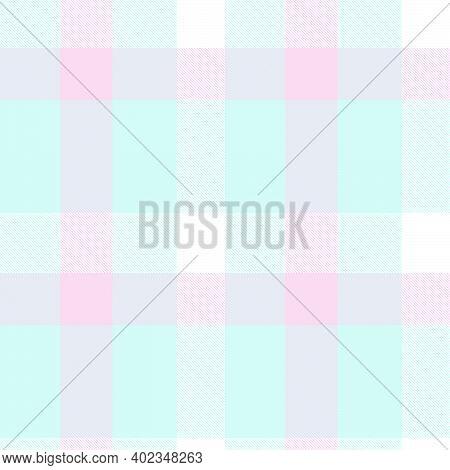 Sky Blue Asymmetric Plaid Textured Seamless Pattern