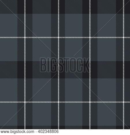 Black And White Asymmetric Plaid Textured Seamless Pattern