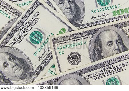Background Of American One Hundred Dollar Bills