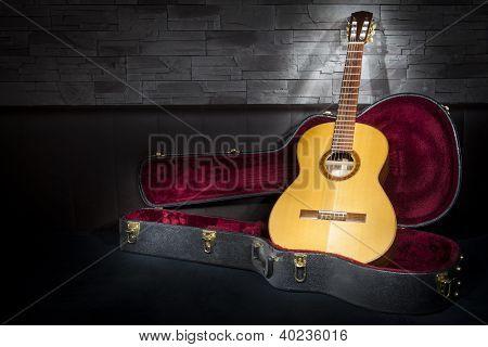illuminated classic music guitar