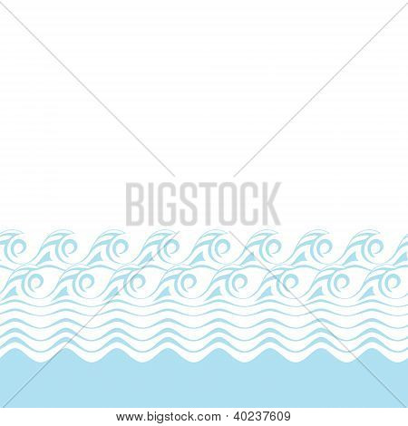 Seamless abstract blue wave texture (Vector bacground)