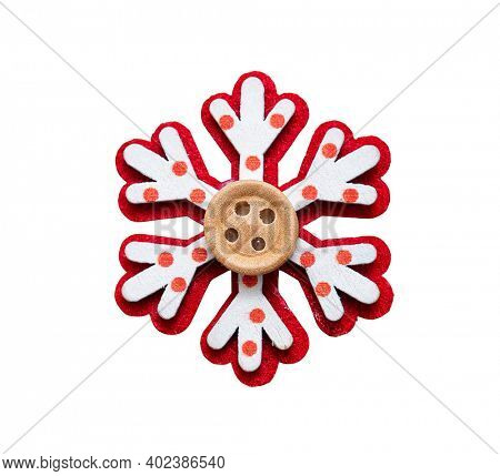 Handcrafted holiday ornament -Christmas star, including clipping path