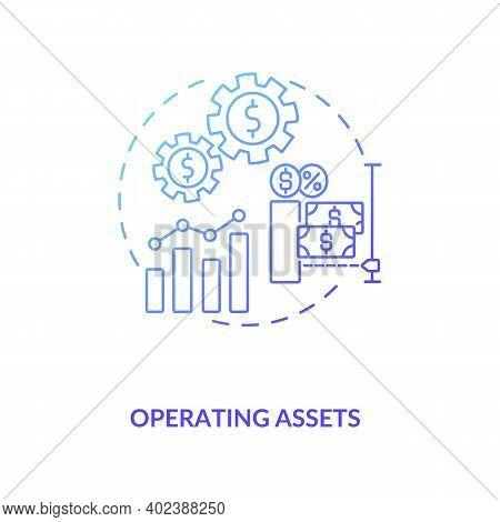 Operating Assets Concept Icon. Am Component Idea Thin Line Illustration. Prepaid Expenses, Cash. Con
