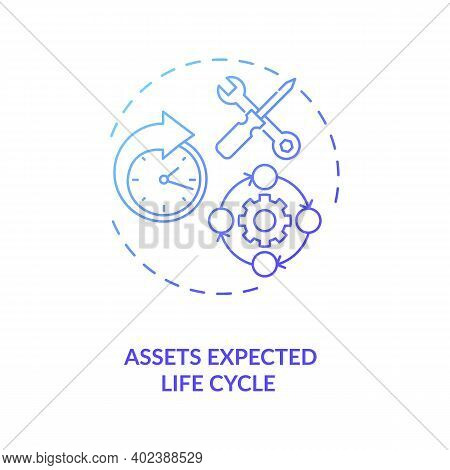 Assets Expected Life Cycle Concept Icon. Assets Inventory Element Idea Thin Line Illustration. Lifec