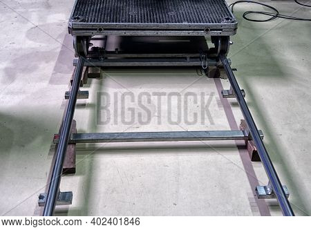 Automatic Cart For Video Shooting. Tv Show Recording.