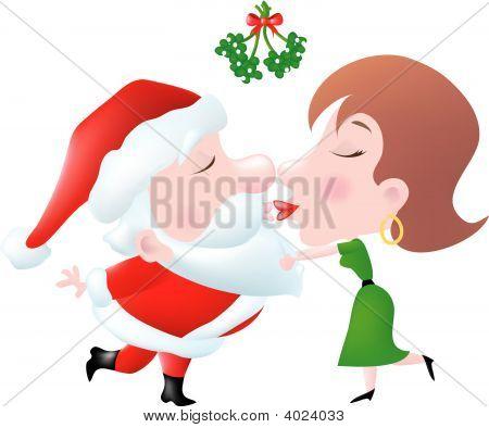 Mommy Kissing Santa