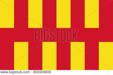 County Flag Of Northumberland, That Represents Northumberland, In The Uk