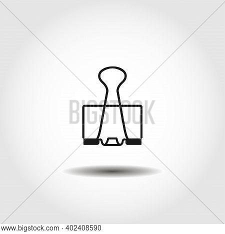 Binder Clip Isolated Vector Icon. Binder Clip Design Element