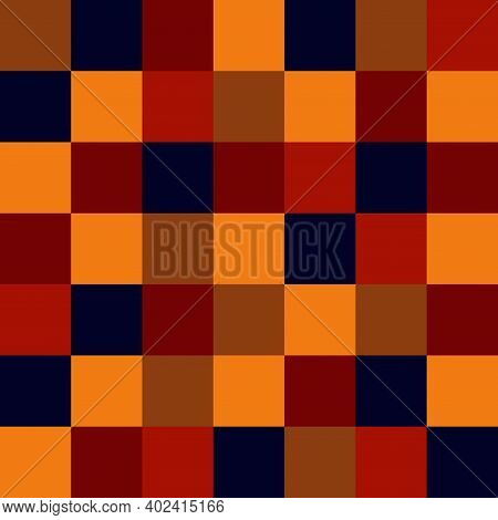 Abstract Geometric Seamless Pattern For Presentation, Web, Cover, Card, Flyer. Retro Colors. Check S