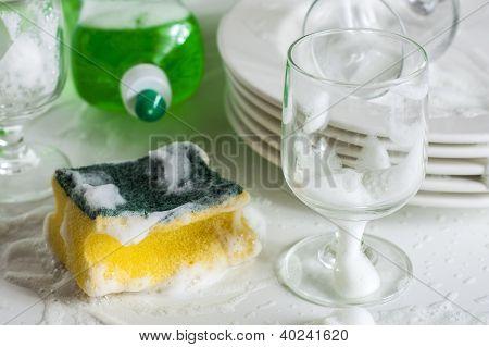 Waschen von Gläsern