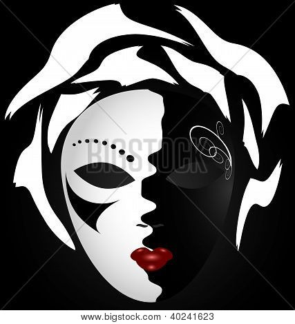 black-white mask