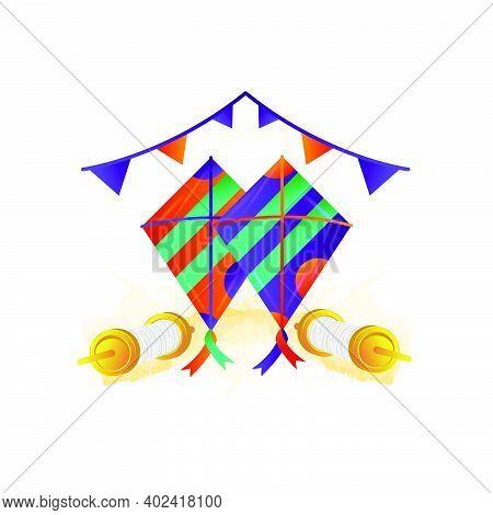 Illustration Design Of Makar Sankranti Design Vector