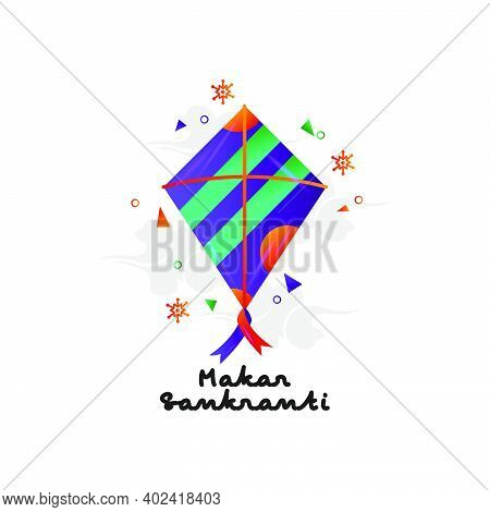 Makar Sankranti With Cloud And Abstract Element Design Vector