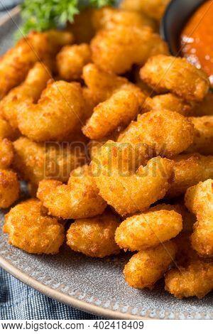 Homemade Deep Fried Popcorn Shrimp