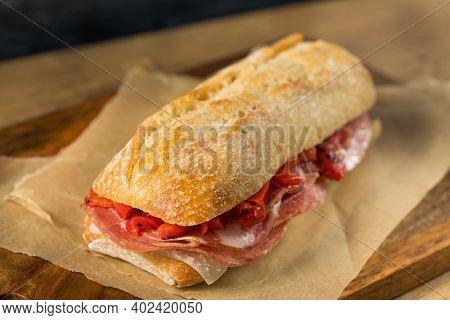 Homemade Spanish Ham Bocadillo Sandwich