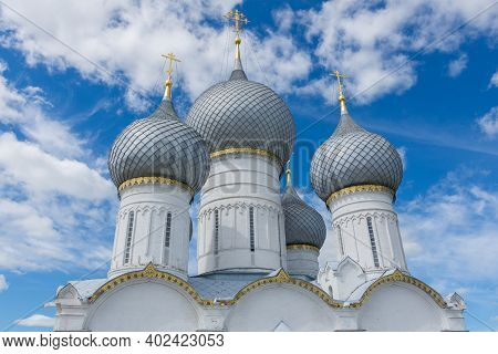 Russia June 30, 2020 The City Of Rostov The Great, View Of The Cathedral Of The Assumption Cathedral