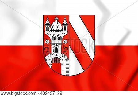 3d Flag Of Lichtenstein (saxony), Germany. 3d Illustration.