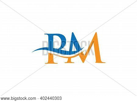 Initial Pm Letter Logo With Creative Modern Business Typography Vector Template. Creative Abstract L