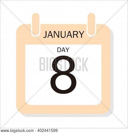 Calendar Design For January 8, 2021, 2021 Calendar Week Starts On Sunday. Printable 2021 Yearly Cale