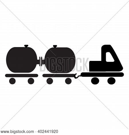 Tanker Truck Icon Isolated On White Background From Machinery Collection. Tanker Truck Icon Trendy A