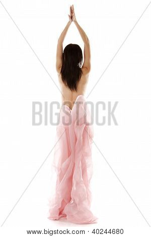 Young Girl With Fabric
