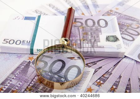 Euros With Loupe