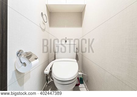 Automatic Flushing In The Small Toilets In The Apartment