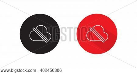 No Access Internet Icon Vector In Flat Style. Offline Cloud Symbol Illustration