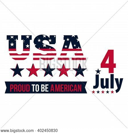 Happy 4th Of July. Usa Independence Day Design Background. 4th Of July Happy Independence Day Poster