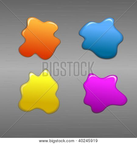 Colorful paint on metal background