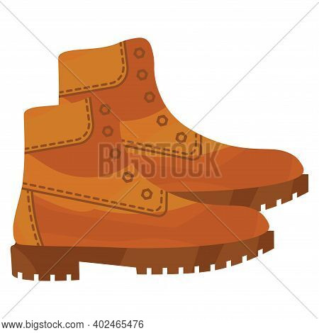 Army Brown Military Shoes. Combat American Military Boots. Leather Shoes For Hiking, Walking Or Work