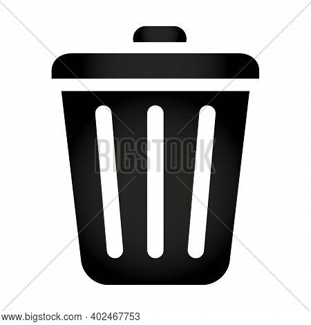 Trash Bin Icon Isolated On White Background From Office Collection. Trash Bin Icon Trendy And Modern