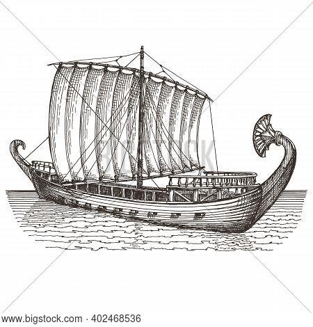 Ship Logo. Ship Vector. Boat Image. Ship Image. Ship Logo Template For Transportation Or Travel Indu