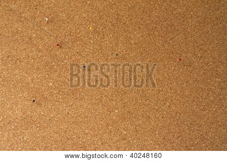 Cork-Office-Board mit Pins