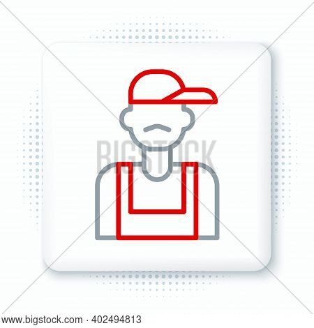 Line Plumber Icon Isolated On White Background. Colorful Outline Concept. Vector