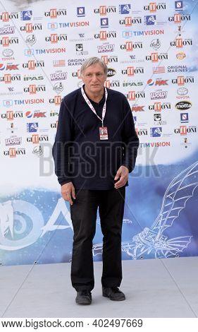 Giffoni Valle Piana, Sa, Italy - July 20, 2019 : Don Luigi Ciotti At Giffoni Film Festival 2019 - On