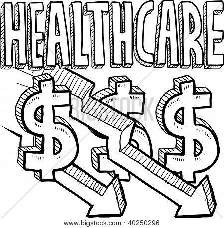 Health care costs decreasing sketch