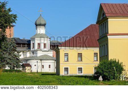 The Citadel Of Novgorod The Great, View Of Judiciary Town And The Church Of The Intercession Of The
