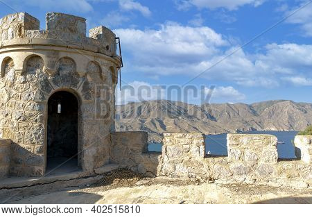 Watchtower Area Of The Medieval Fortress Called Los Castillitos Built For Defense In The Mediterrane