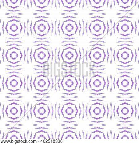 Textile Ready Imaginative Print, Swimwear Fabric, Wallpaper, Wrapping. Purple Astonishing Boho Chic