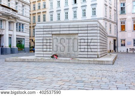 Jewish Museum On Judenplatz Square In Vienna, Austria - April 2018