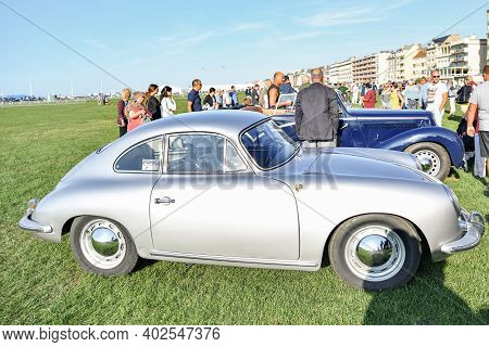 Dieppe, France - September 01, 2018: Retro Car Porsche The Oldtimer Show In Dieppe