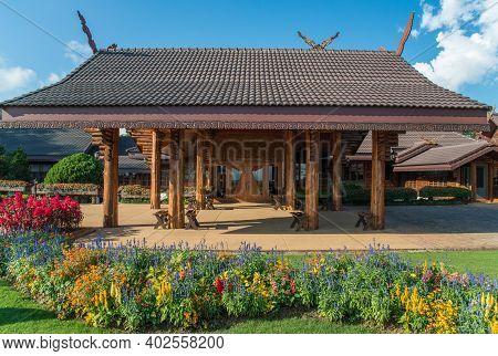 Chiang Rai, Thailand : November-17-2016 : Doi Tung Royal Villa In Chiang Rai Province, Was The Forme