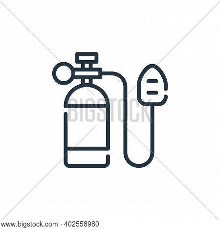 oxygen tank icon isolated on white background. oxygen tank icon thin line outline linear oxygen tank