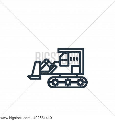 bulldozer icon isolated on white background. bulldozer icon thin line outline linear bulldozer symbo