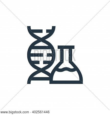 dna icon isolated on white background. dna icon thin line outline linear dna symbol for logo, web, a